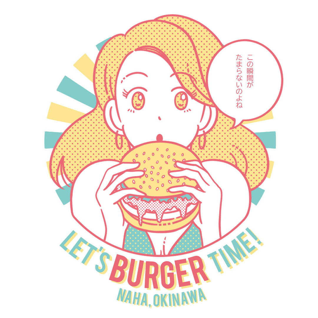 Burger time コラボイラスト
